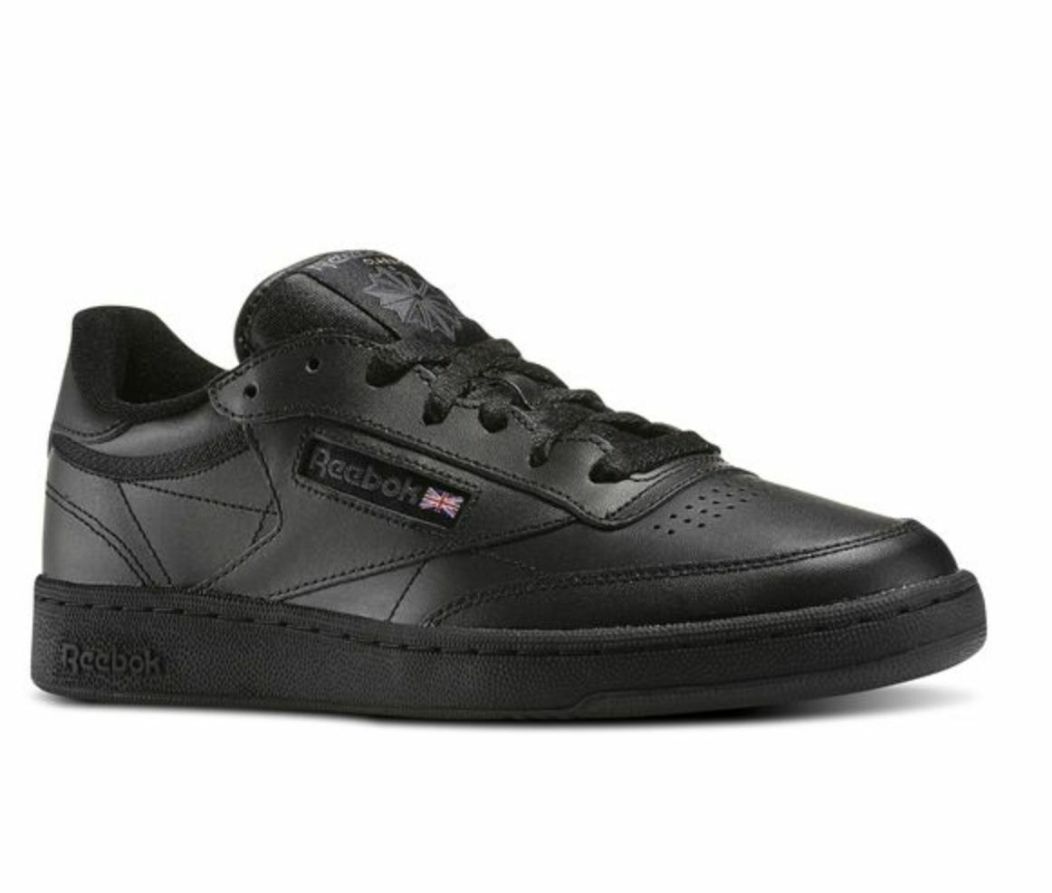 Reebok Club C C C Chaussures 85 AR0454 Noir Charcoal Leather Casual Hommes bc5773