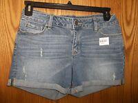 Ana - Junior - Denim Shorts - Medium Wash - Size 4 (ac-17-48)