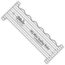 "Handi Quilter HQ Mini Scallop Ruler Template 8""x3"" Mid-Arm Longarm Handiquilter"