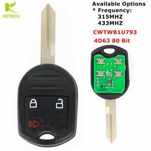 For 2012 2013 2014 2015 2016 Ford Escape 80 BIT Key Car Remote Keyless Entry Fob