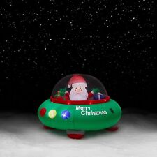 Item 2 Trim A Home 5Ft Santa In Flying Saucer Inflatable Christmas Outdoor Decoration