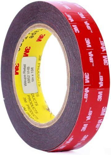3M Scotch 5952 1 in Black VHB Tape x 15 ft.