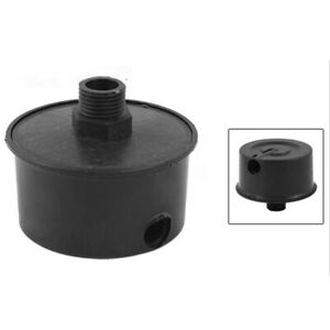 Air-Compressor-Intake-Filter-Silencer-Black-Plastic-Housing-Canister-10mm-Dia