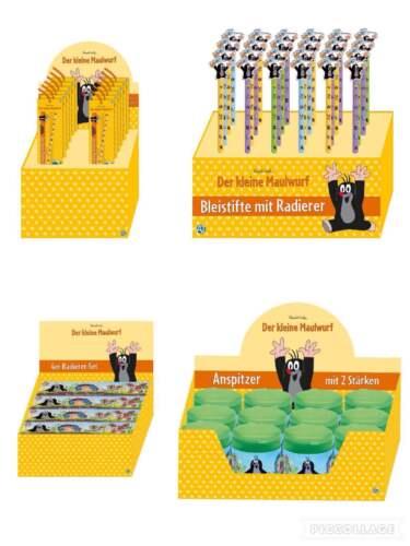 Radierer Set,Spitzer Lineal 4er Set,Bleistift Der kleine Maulwurf Schreibwaren