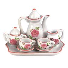 New MInature Pink Rose Tea Set!  Perfect size for Madame Alexander Dolls!