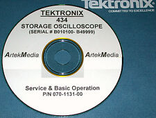 Tek 434 Service Amp Operating Manual Early Serial S