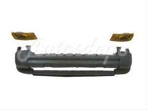 For 2005 JEEP LIBERTY FRONT BUMPER  TXT GRAY PARK//SIGNAL LIGHT W// TOW HOOK HOLE