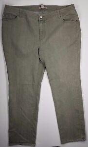 Chico-039-s-Straight-Leg-Jeans-Plus-Sz-3-Regular-Embellished-Pockets-Grey-Women-039-s