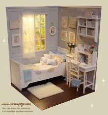 ❤OOAK 1/6 Blythe Pullip Doll CLOUDY MORNING Bedroom Diorama by Nerea Pozo Keera❤
