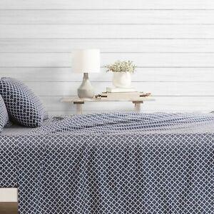 Hotel-Collection-4-Piece-Quatrefoil-Pattern-Bed-Sheet-Set-Premium-by-iEnjoy