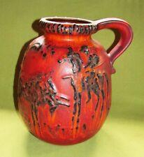 Ruscha Vulkano Fat Lava Vase; Rot/Orange  Figuren