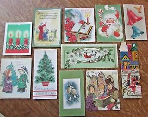 70s Christmas.Details About Vintage Lot 11 50 S 70 S Christmas Cards In Green Colors