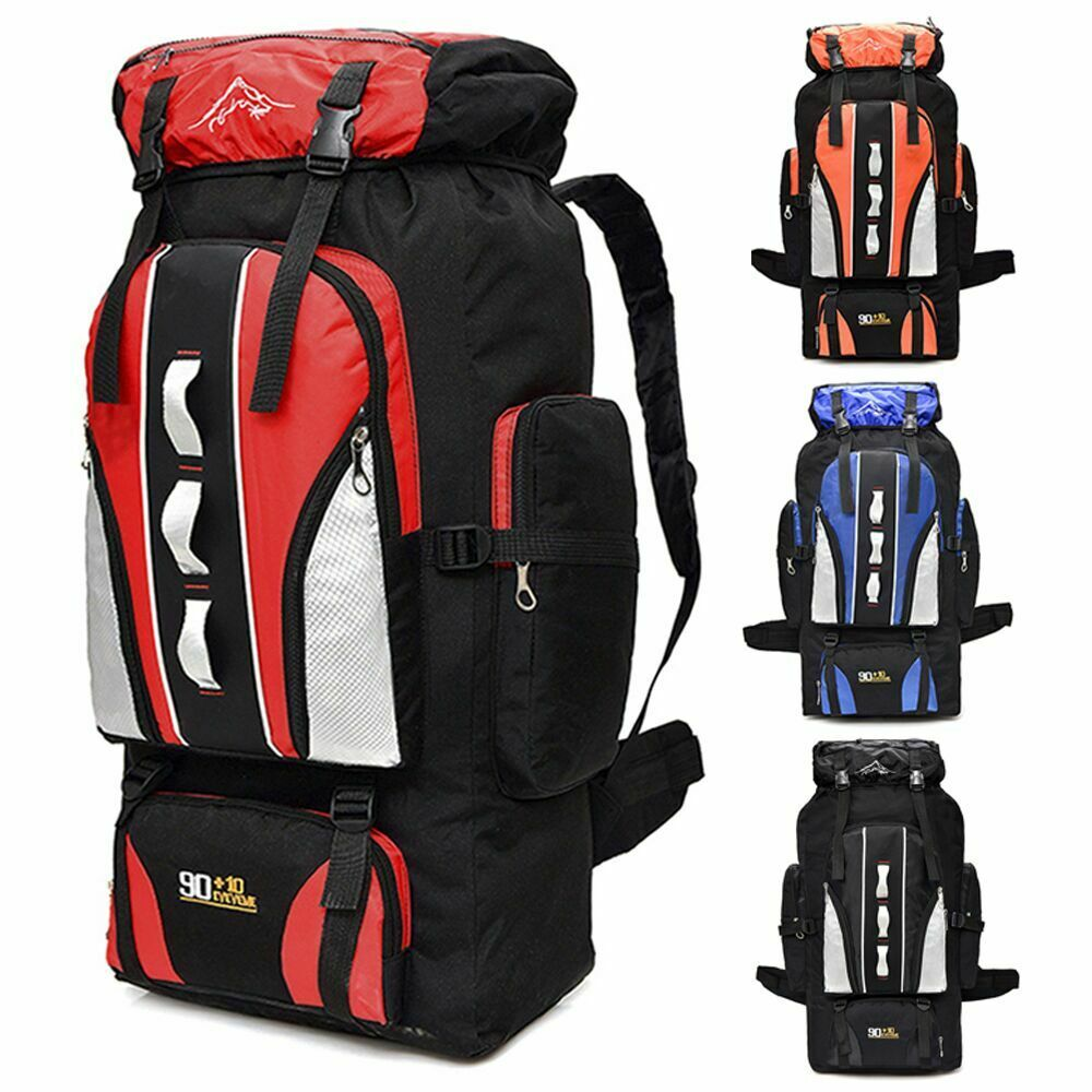 100L Outdoor Sporting Bag Hiking Camping Backpack Travel Trekking Day ... - s l1600