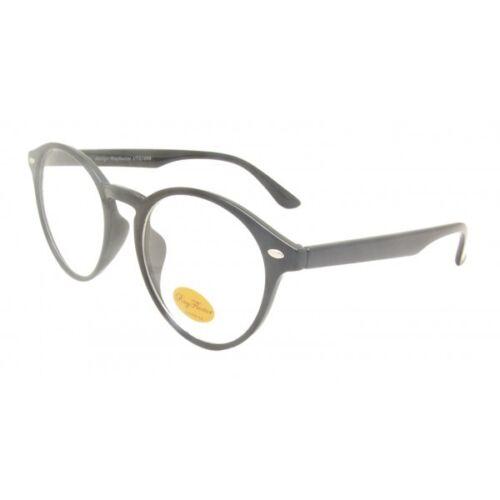 Nikia Rotondo Lente Trasparente Retrò Vintage Rockabilly Occhiali da sole lente UV400