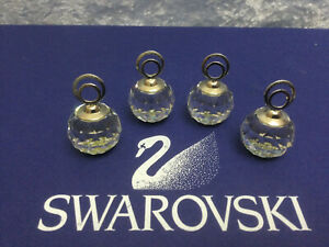 Swarovski Small Rhodium Crystal Cal Cardholders (Set of 4) - 7403020095 MIB