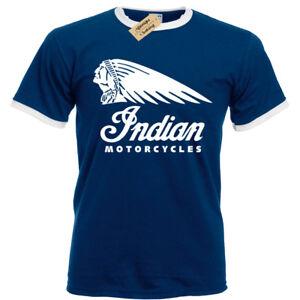 Camiseta-motera-indio-Para-Hombre-timbre-motocicletas-Moto-Cafe-Racer-Bicicleta-Clasica
