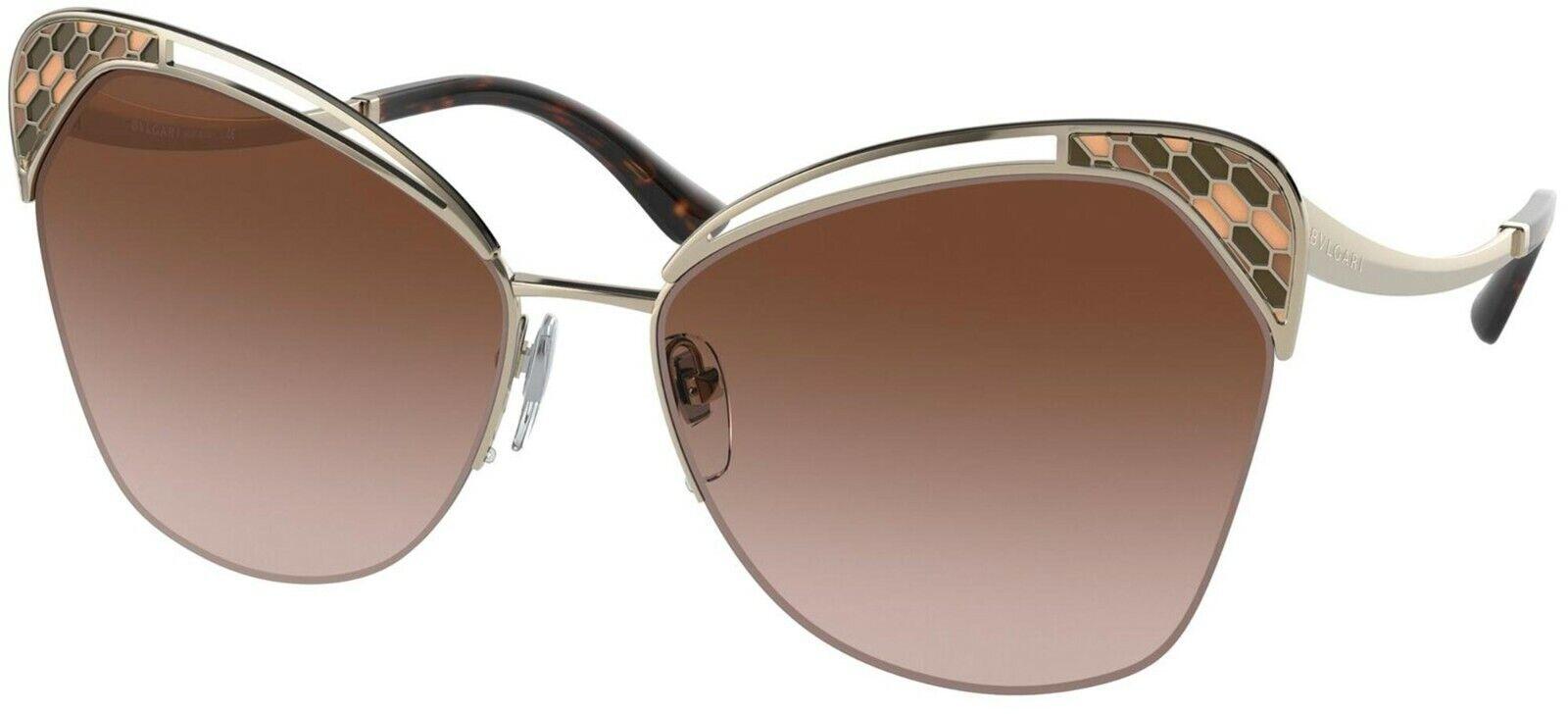 Bvlgari SERPENTI BV 6161 Pale Gold/Brown Shaded (278/13) Sunglasses