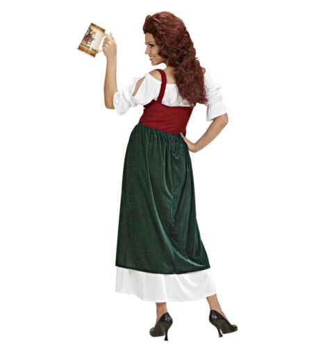 Lucrezia Tavern Wench Medieval Maid Middle Ages Ladies Fancy Dress Costume S-XL