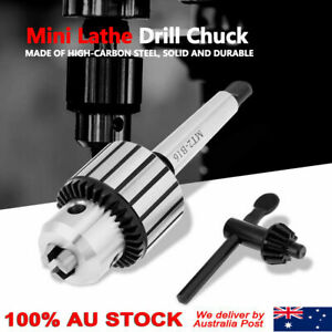 1-13mm B16 Key Drill Chuck With Mt2 Arbor Carbide Steel Lathe Tailstock AU Stock
