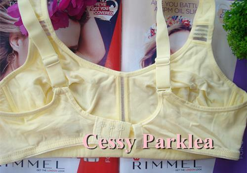"""Germany /""""petite fleur/"""" Green Baby Yellow Cotton Stretchy Wire-Free Cups Bras"""