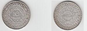 Gertbrolen-Maroc-10-Francs-Argent-1347-Exemplaire-N-8-Silver-Coin
