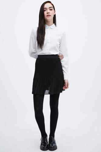 RRP £42 BN Black Urban Outfitters Cooperative Pleated Flippy Skirt Small