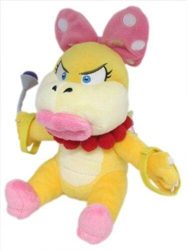 "REAL Super Mario Bros 7/"" Wendy Koopa Stuffed Plush Doll Toy 1346 Little Buddy"