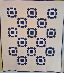 INDIGO-2-GENERATION-BLUE-AND-WHITE-ROLLING-STONE-GREAT-CONDITION-NICE-QUILTING