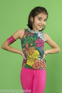 Shirt-Top-Sommertop-Maedchen-Blumenprint-Gr-S-L-italienische-Mode-zwei-Farben