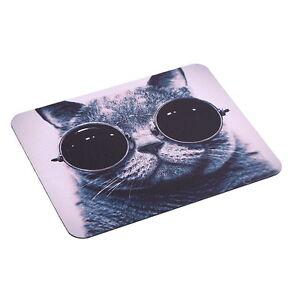 Mauspad-Katze-mit-Sonnen-Brille-PC-Computer-Mausunterlage-Anti-Rutsch-Mousepad