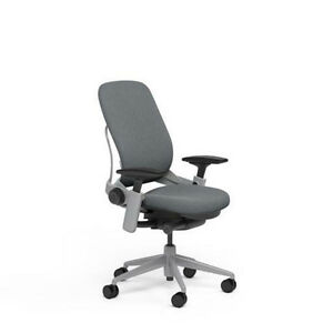 Image Is Loading NEW Steelcase Adjustable Leap Desk Chair Buzz2 Grey