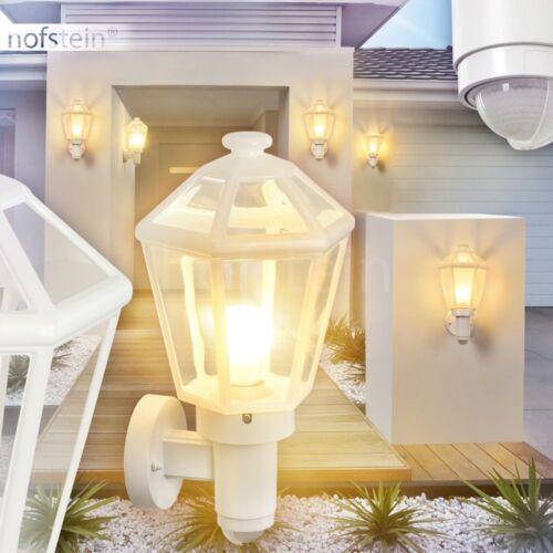 Außen Wand Lampen mit Bewegungsmelder Terrasse Veranda Garten Hof Leuchte weiß