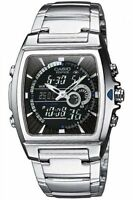 Casio Edifice Combo Silvertone Watch, 100 Meter WR, Chronograph, EFA120D-1AV