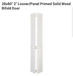 Image Is Loading 28x80 034 2 Louver Panel Primed Solid