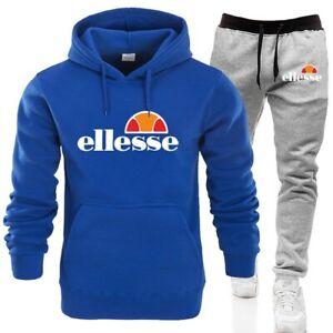 Details zu Neue Herren Ellesse Jogging Fitness Trainingsanzug Mode Kapuzenpullover Anzug !!