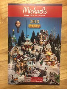 Lemax Christmas Village Michaels.Details About 2018 New Lemax Christmas Holiday Village Michael S Store Brochure Catalog Flyer