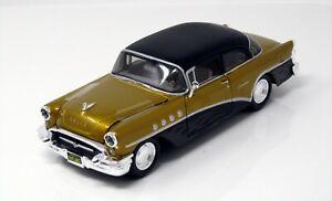 Modelo-1-24-buick-century-034-Outlaws-034-1955-oro-negro-maisto-32507
