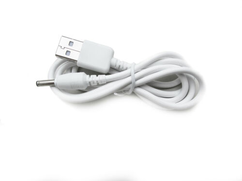 90cm USB White Charger Power Cable for Vtech BM1000 Digital Audio Baby Monitor