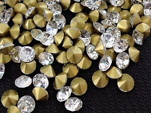 Cheap Price Clear White Ss12 Point Back Rhinestones Gems Glass Chatons Strass Nail Art Craft Gems Parts & Accessories