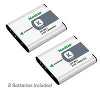 2x Kastar Battery For Sony Np-bk1 Type K Cybershot Dsc-s780 S980 W190 Mhs-cm5