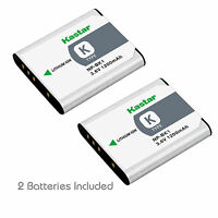 2x Kastar Battery For Sony Np-bk1 Type K Cybershot Dsc-s780 S980 W190 Mhs-cm5