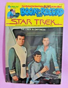 Vtg-Star-Trek-Book-amp-Record-The-Crier-in-Emptiness-TOS-Peter-Pan