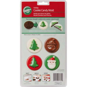 image is loading jolly fun christmas chocolate cookie candy mold from