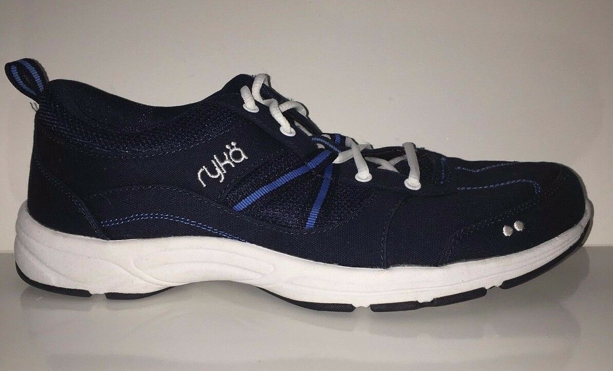 NEW Ryka Tempo Women's Canvas Stain Water Resistant Sneakers shoes Sz 9W