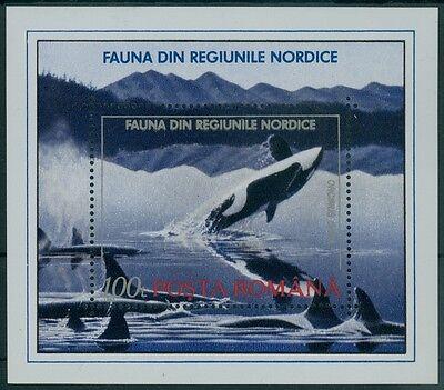 Briefmarken Rumänien 1992 Mi Block 278 ** Tiere Der Nordischen Region,animals North Regions