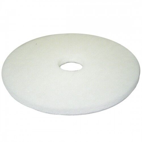 17 Inch White Non-Woven Floor Polishing Pad 5 Pack