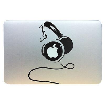 "DJ Headphone Vinyl Decal Sticker Skin Apple MacBook Air Pro Retina 11 12 13 15"""