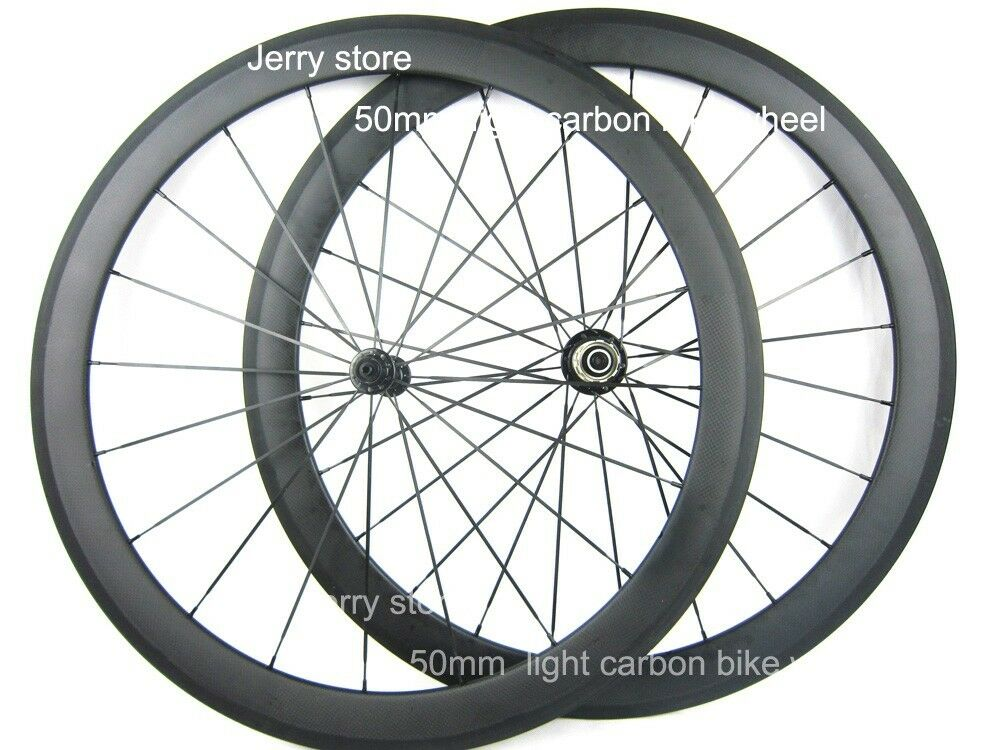 Only 1390g Ultra Light carbon wheels  50mm clincher carbon bike road wheelset  new listing
