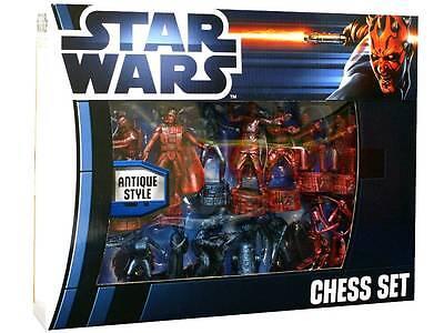 Star Wars jeu d'échecs Antique Style 32 pièces Luke Leia Yoda Obi-Wa Chess Set