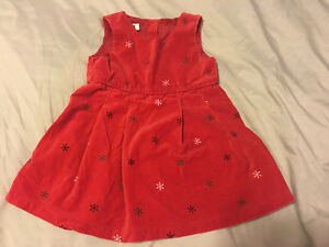 Euc Toddler Girl Holiday Dress Osh Kosh Size 3t Red Ebay